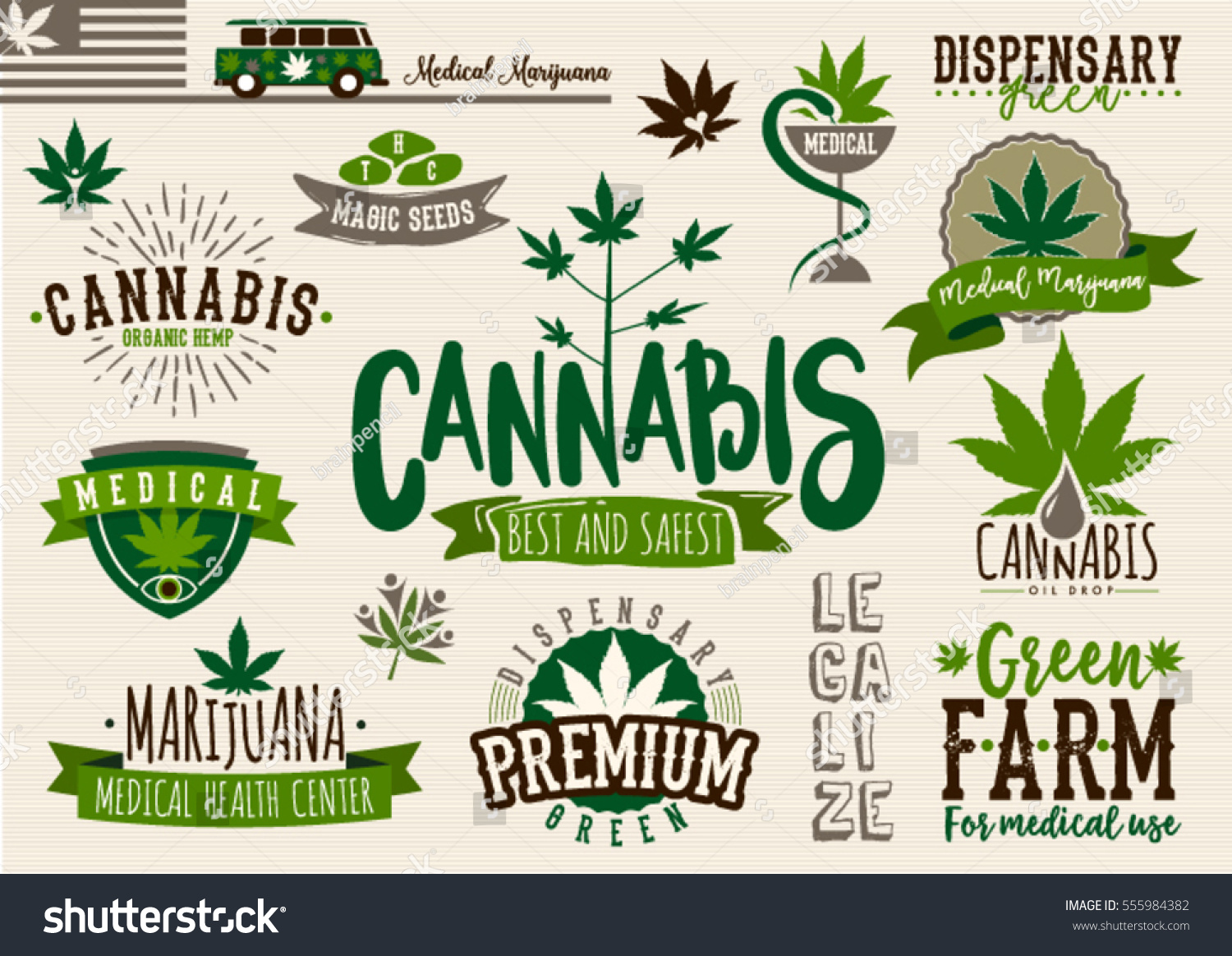 Medical Marijuana Product Label Logo Graphic Vector – Product Label Template
