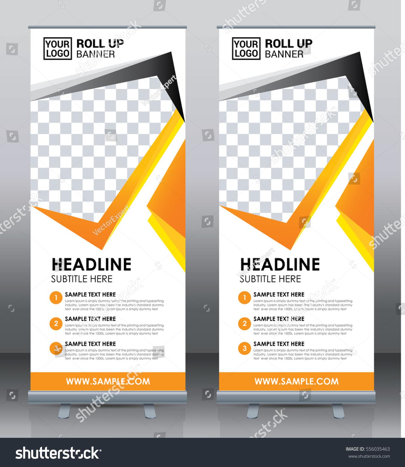 Roll Banner Template Design Brochure Flyer Stock Vector 556035463 ...