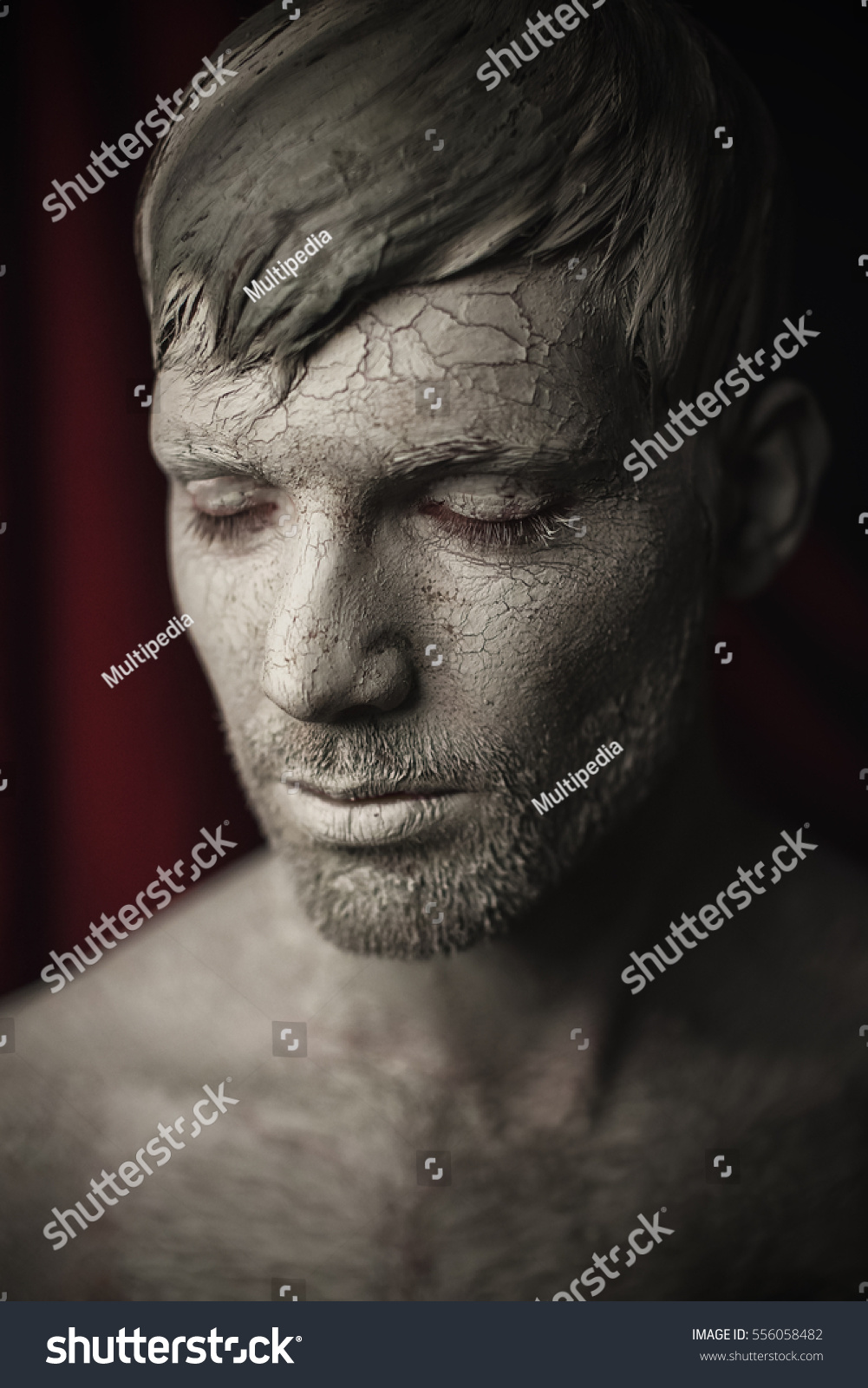 Naked man mud stock image. Image of passion, muscular