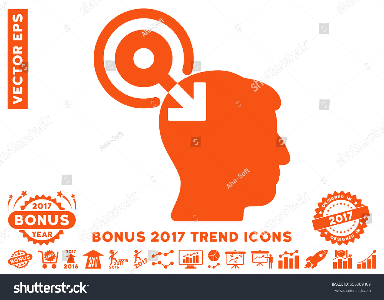 Orange brain interface plugin icon bonus stock vector for Bonus sociale 2017