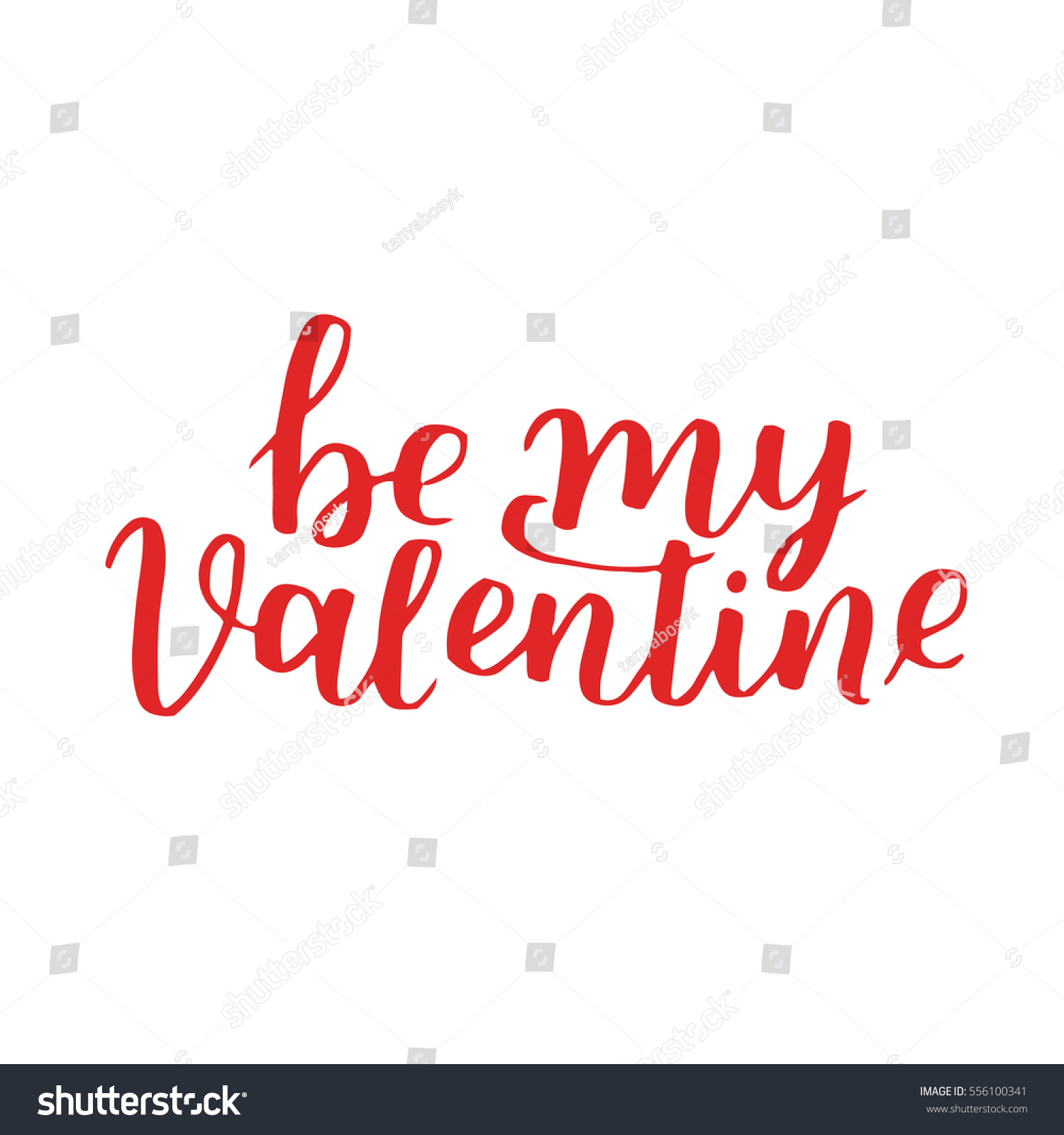 Handwritten Lettering Quote About Love Valentines Stock Vector ...