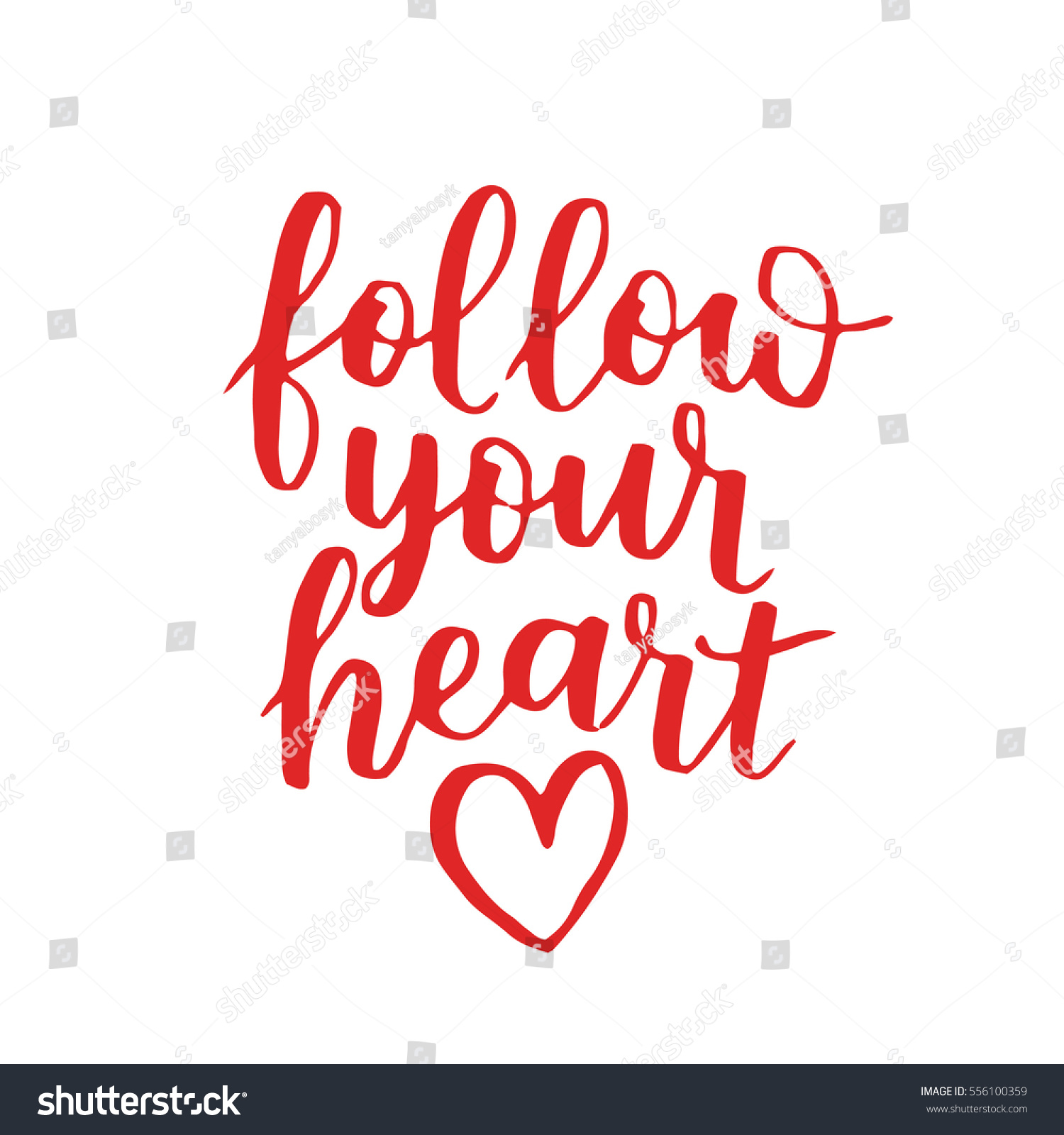 Handwritten Lettering Quote About Love Valentines Stock Photo (Photo ...