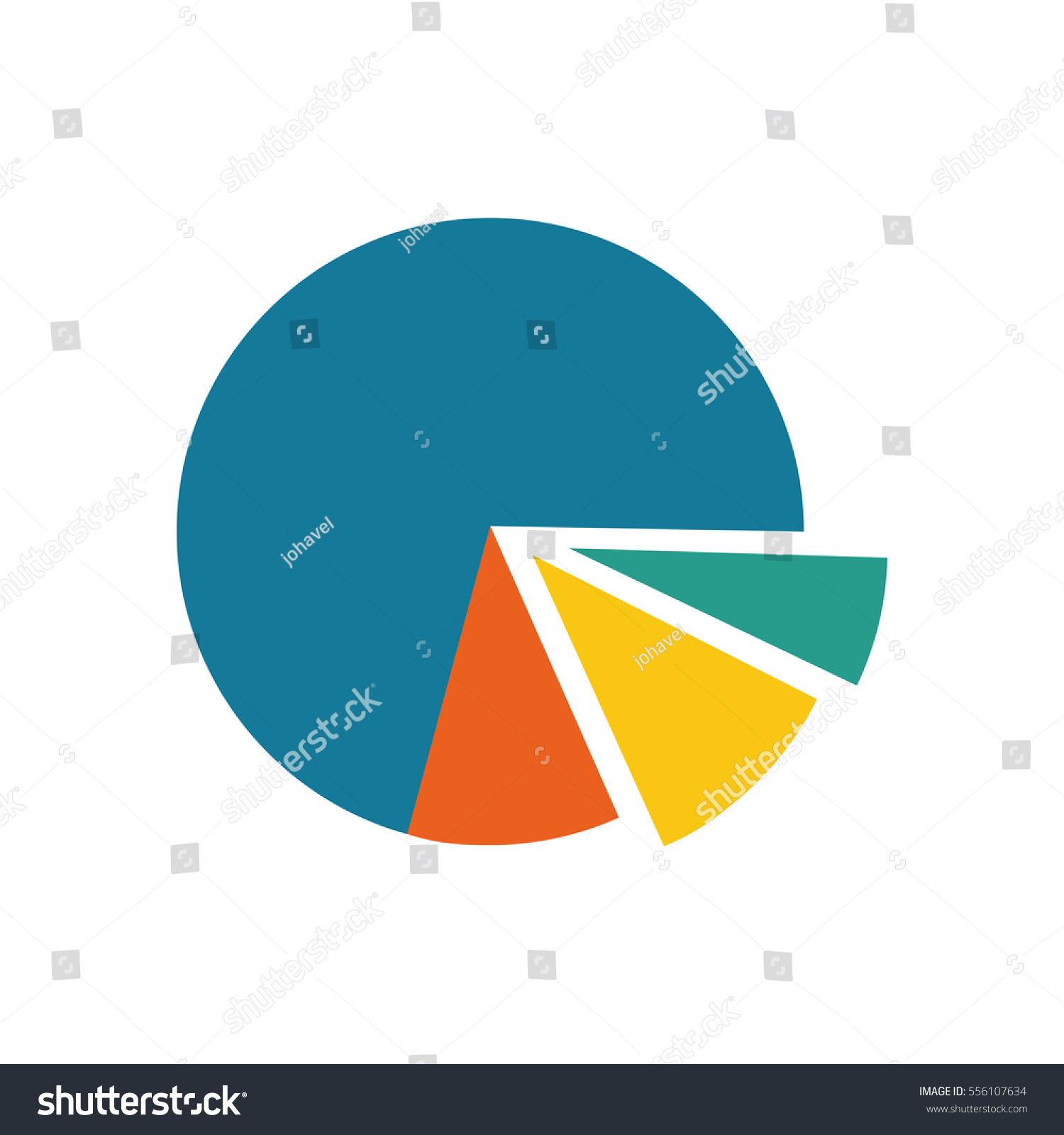 Statistics Pie Chart Icon Vector Illustration Stock Vector Royalty