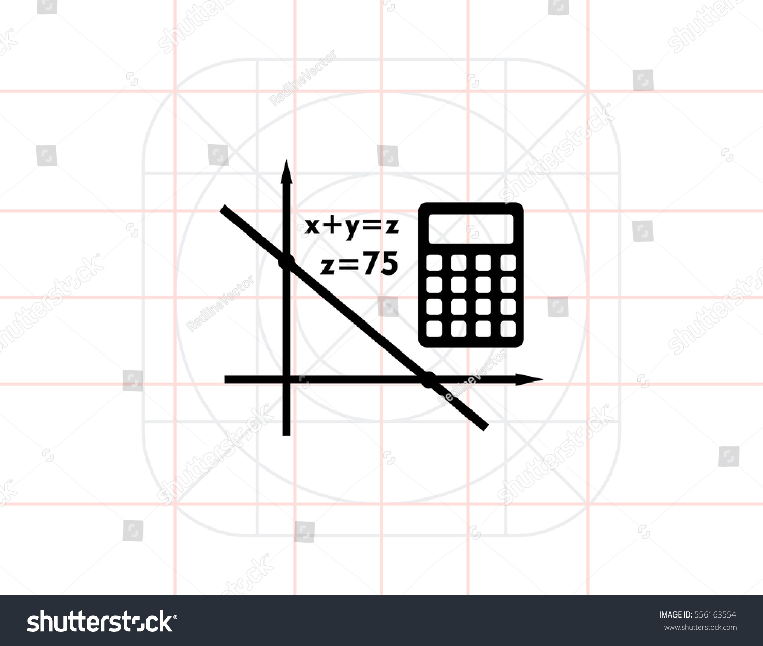 Algebra Simple Icon Stock Vector 556163554 - Shutterstock