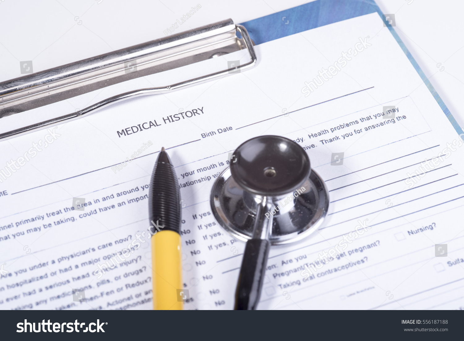 medical history questionnaire の写真素材 今すぐ編集 556187188