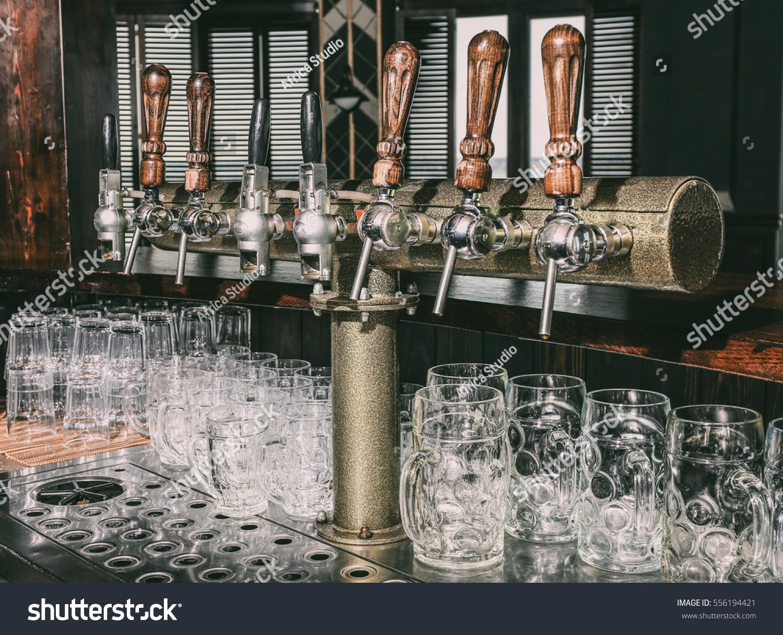 Draft Beer Taps Modern Bar Stock Photo (Edit Now) 556194421 ...