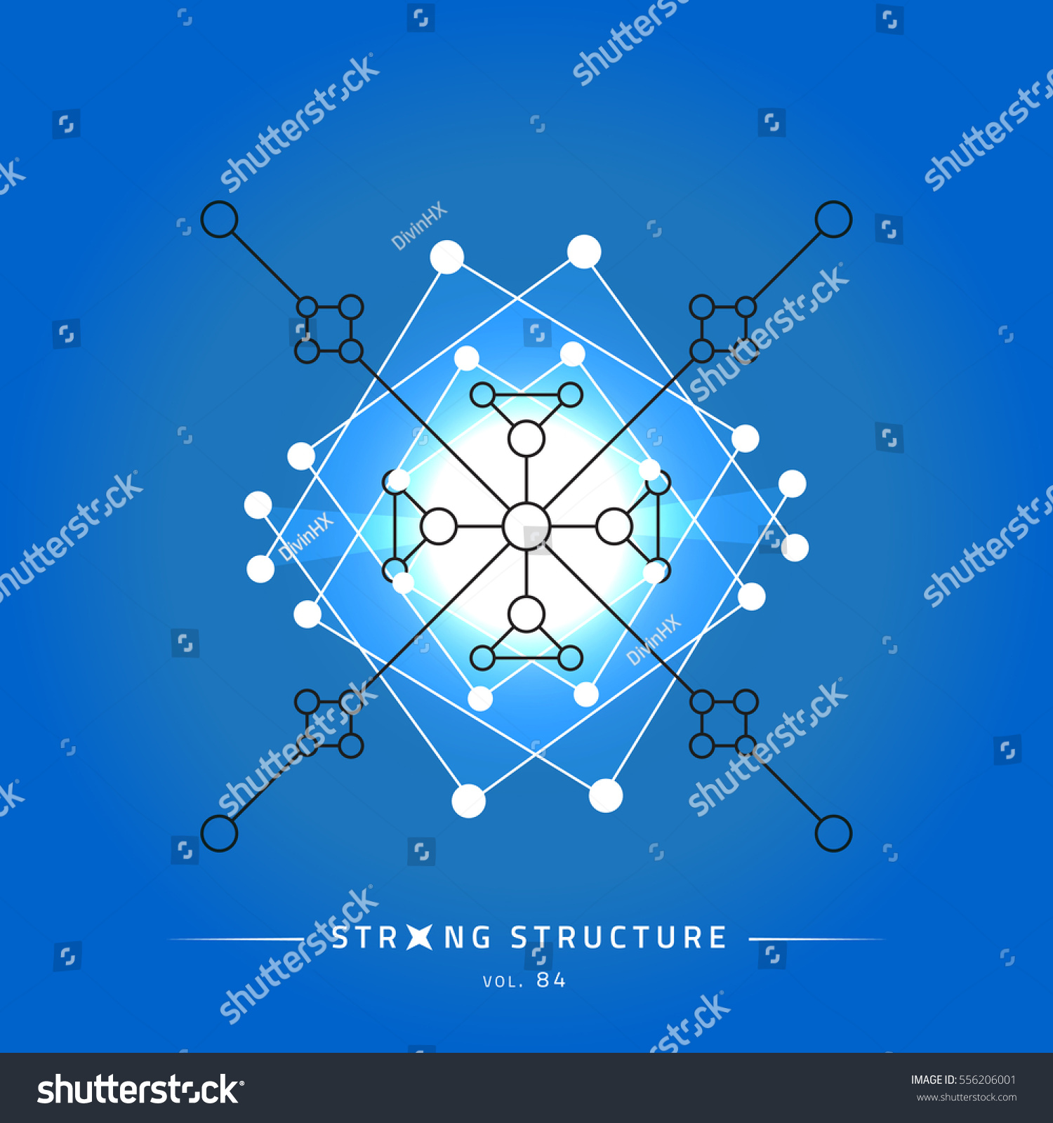Stroke Linear Isolated Geometric Figure Scientific Stock Vector