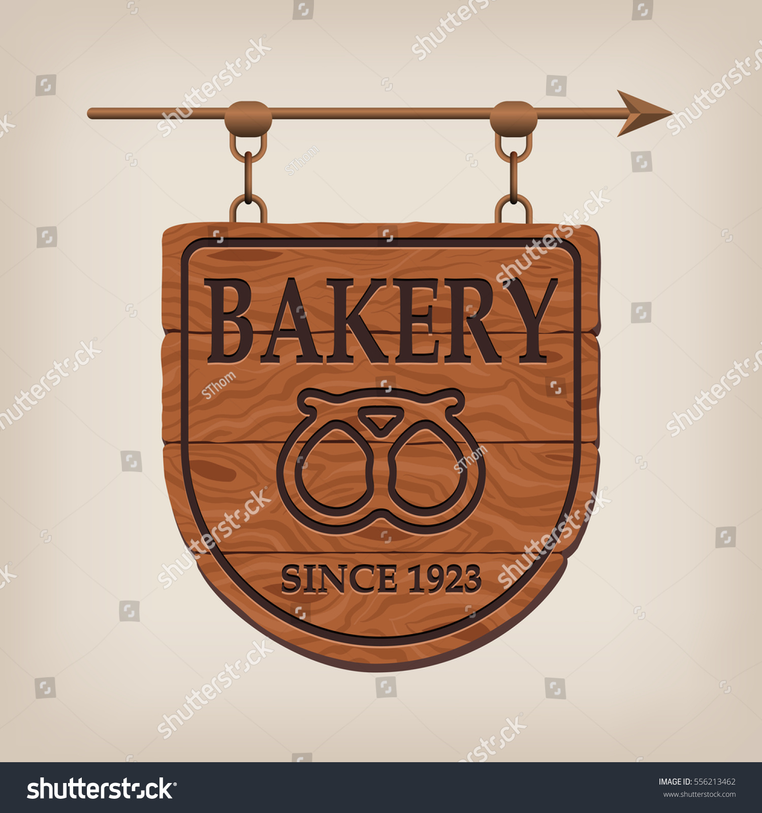 Wooden Bakery Signs Vintage