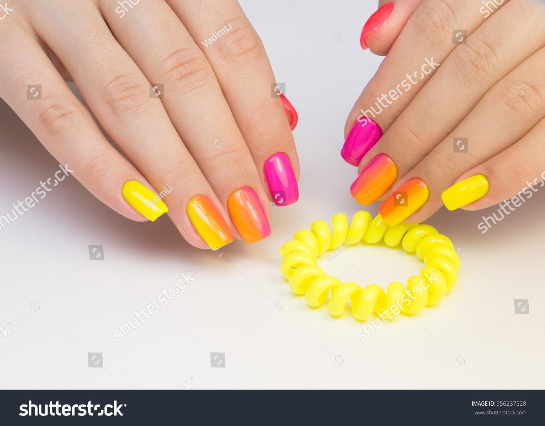 Amazing Manicure Natural Nails Gel Polish Stock Photo (Royalty Free ...