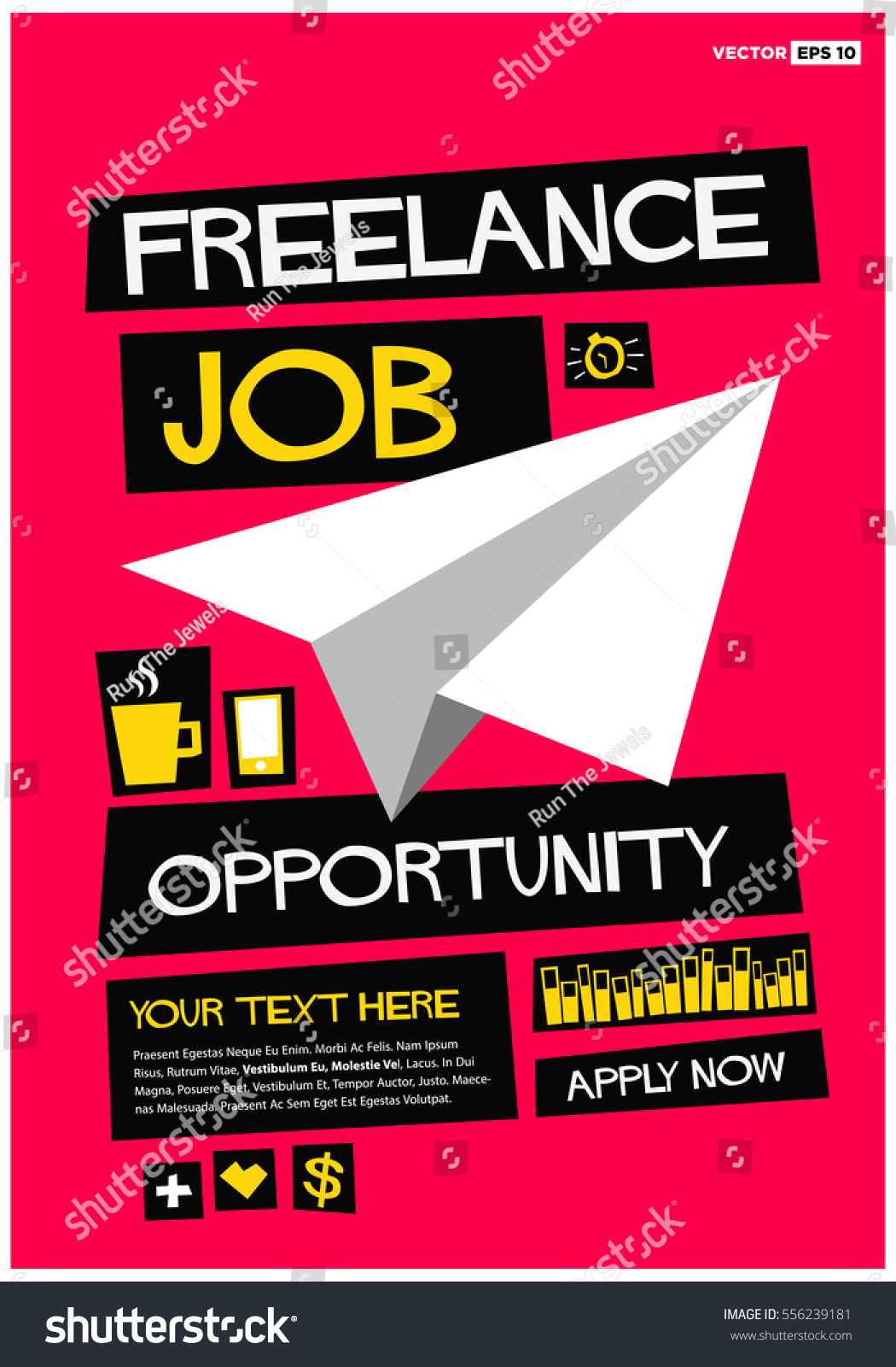 lance job opportunity apply now flat stock vector   lance job opportunity apply now flat style vector illustration recruiting hiring poster