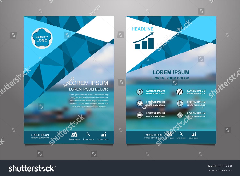 Blue Vector Annual Report Leaflet Brochure Vector 556312330 – Azure Flyer Template
