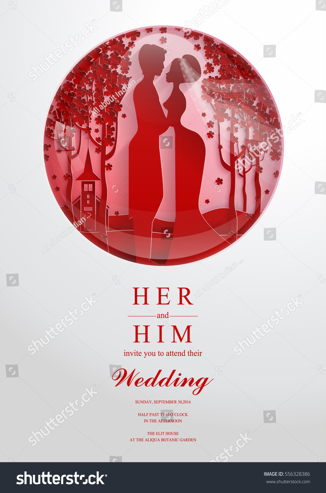 Wedding Invitation Card Templates Paper Art Stock Vector 556328386 ...