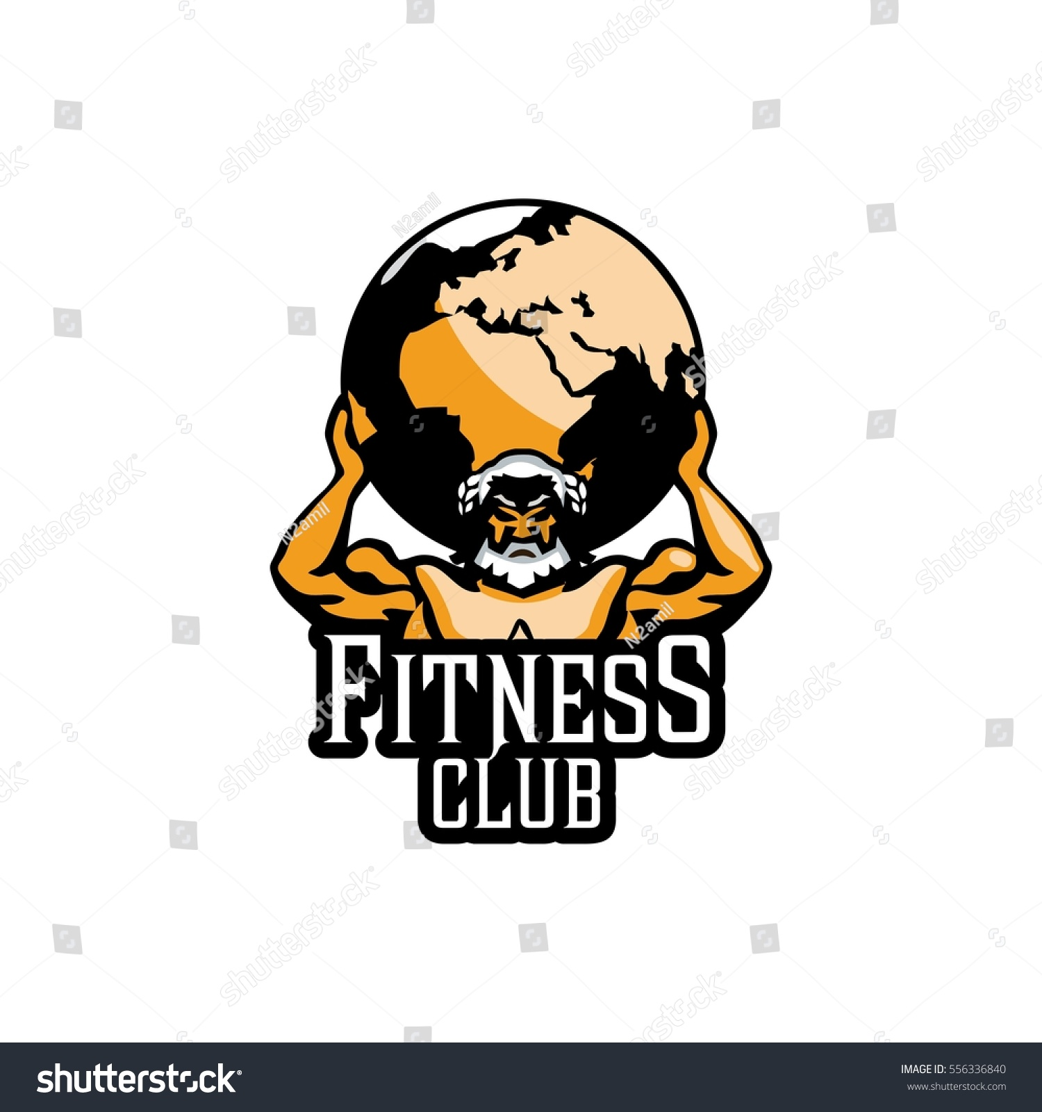 Atlas Sign Mighty Titan Holding On Stock Vector Royalty Free