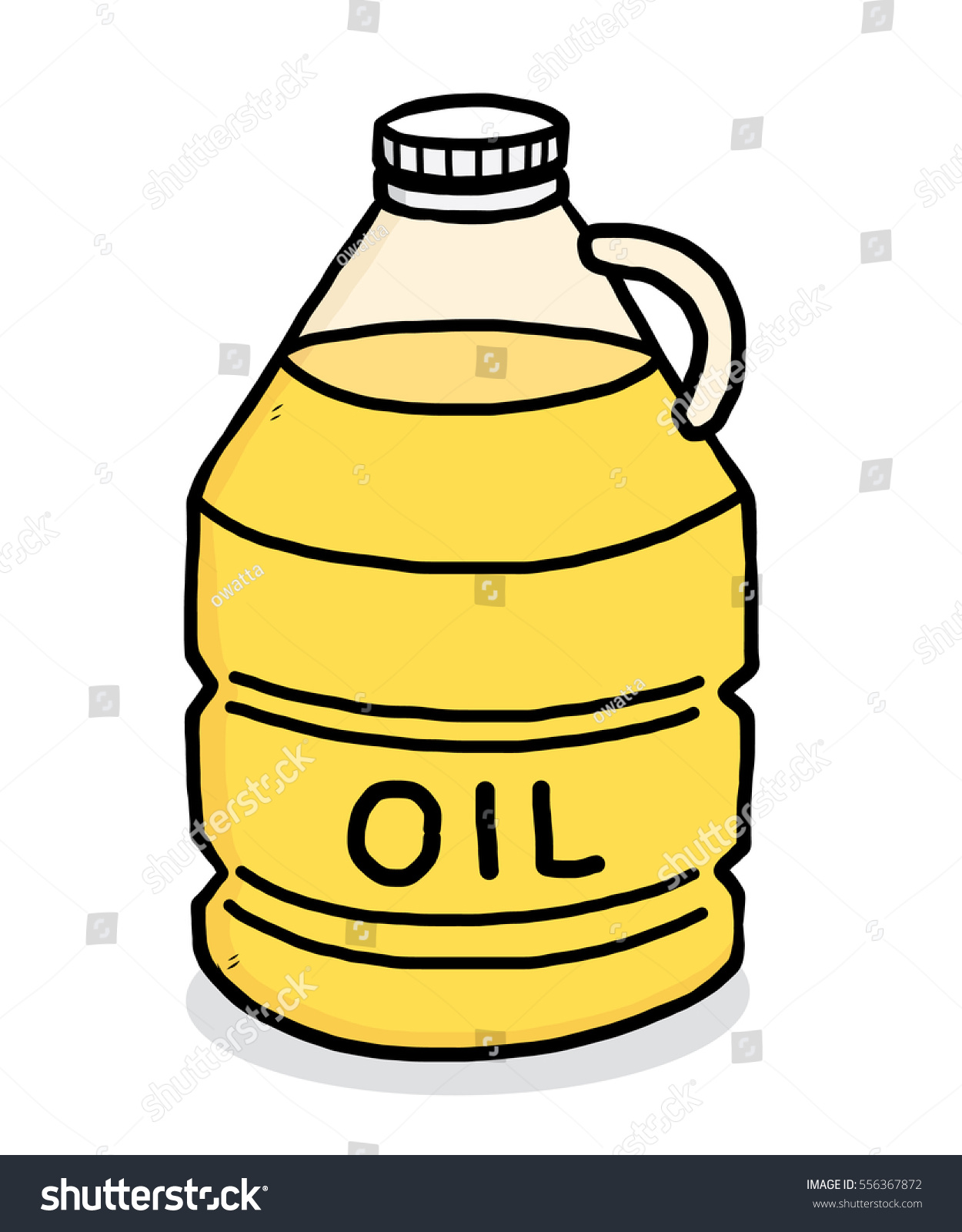 vegetable oil bottle cartoon vector illustration stock vector rh shutterstock com Essential Oil Bottle Outline Motor Oil Bottle