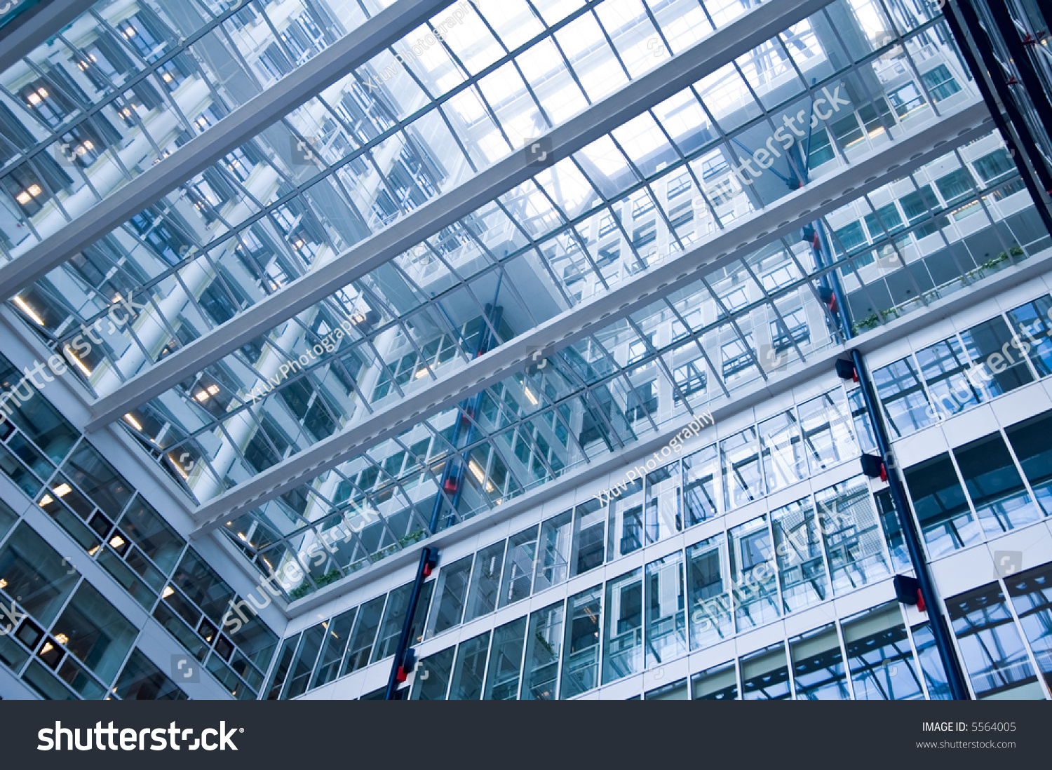 Glass Building Interior : Glass roof building interior stock photo