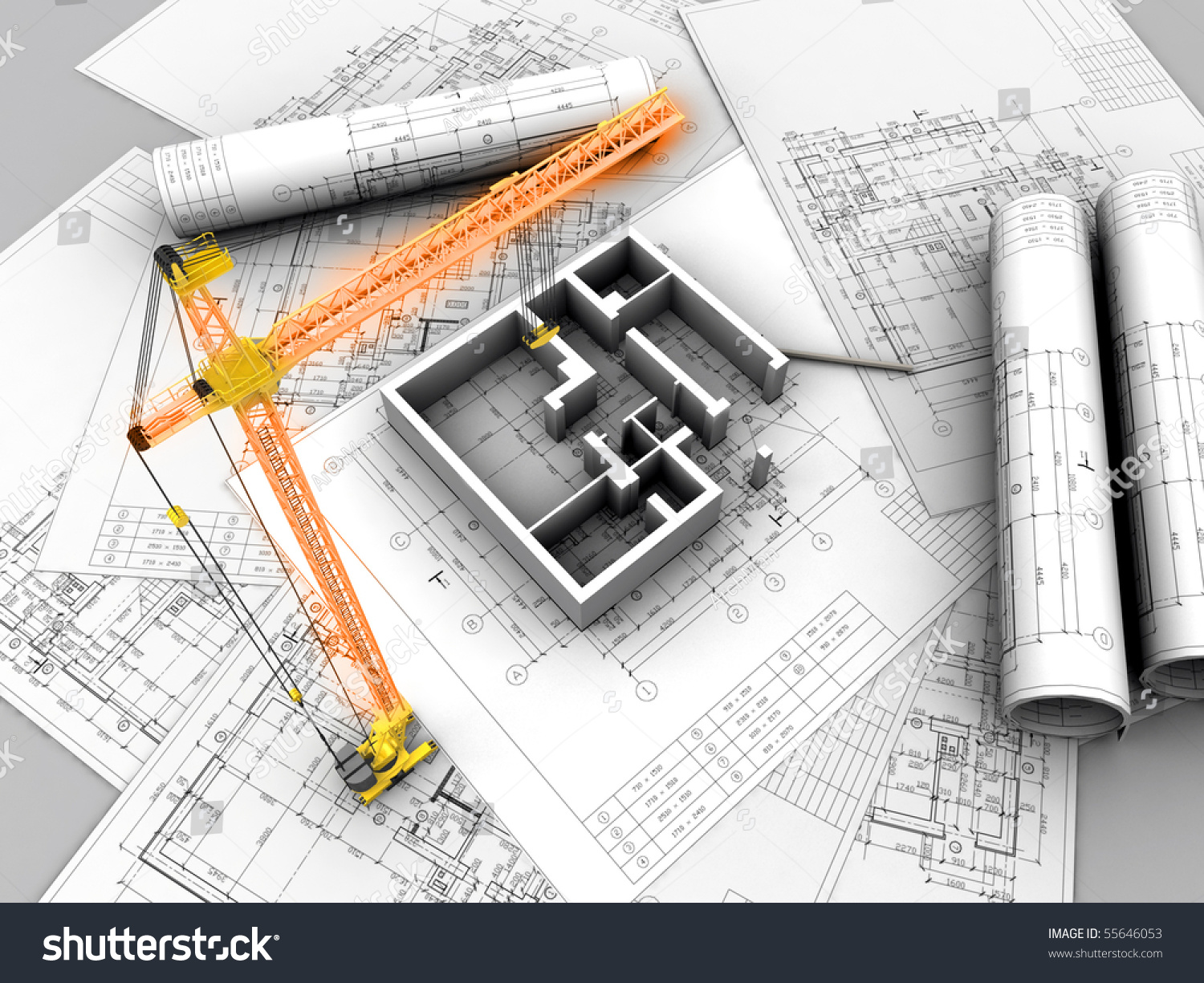3d plan drawing stock illustration 55646053 shutterstock for 3d plan drawing