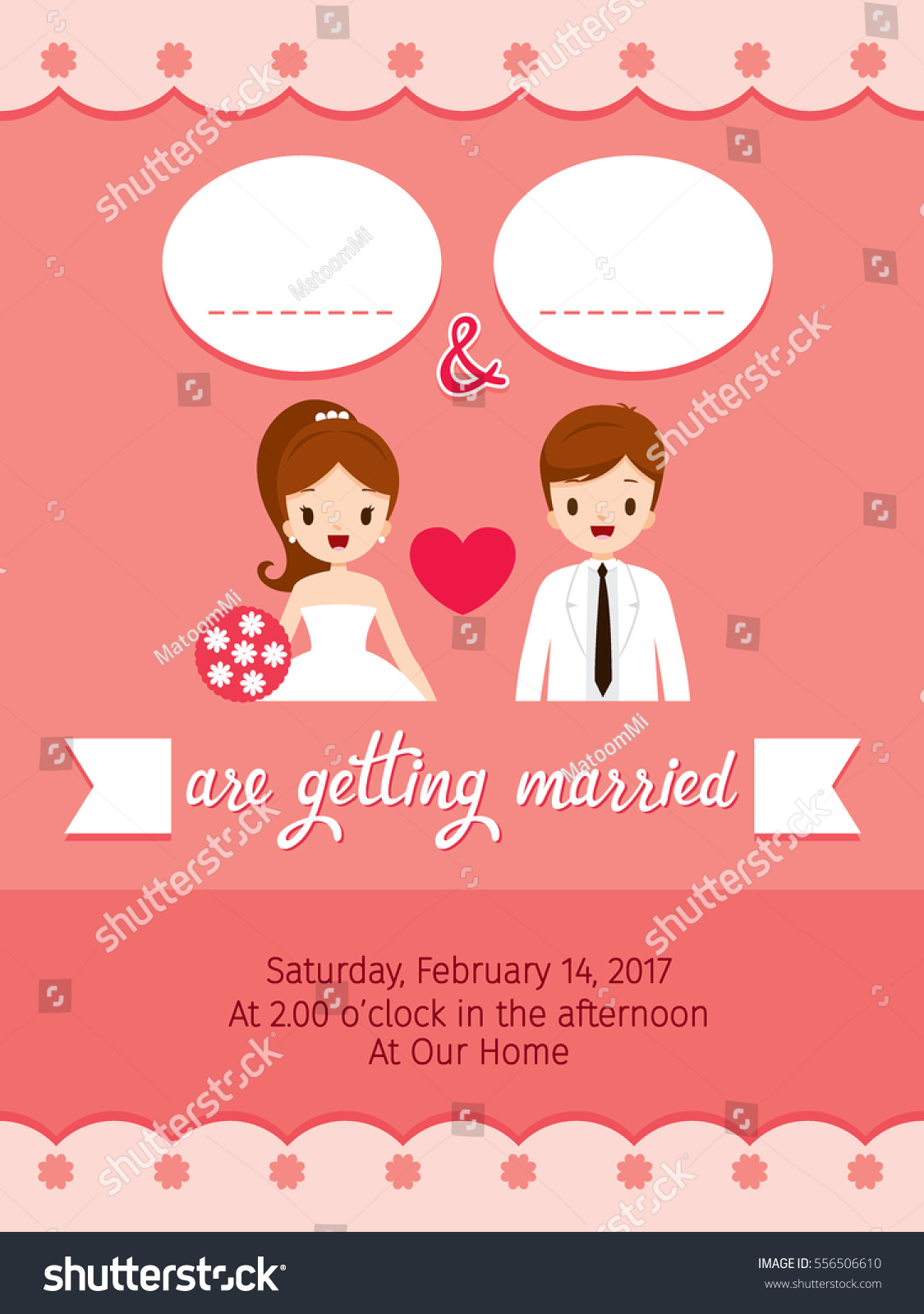 Wedding Invitation Card Template Bride Groom Stock Photo (Photo ...
