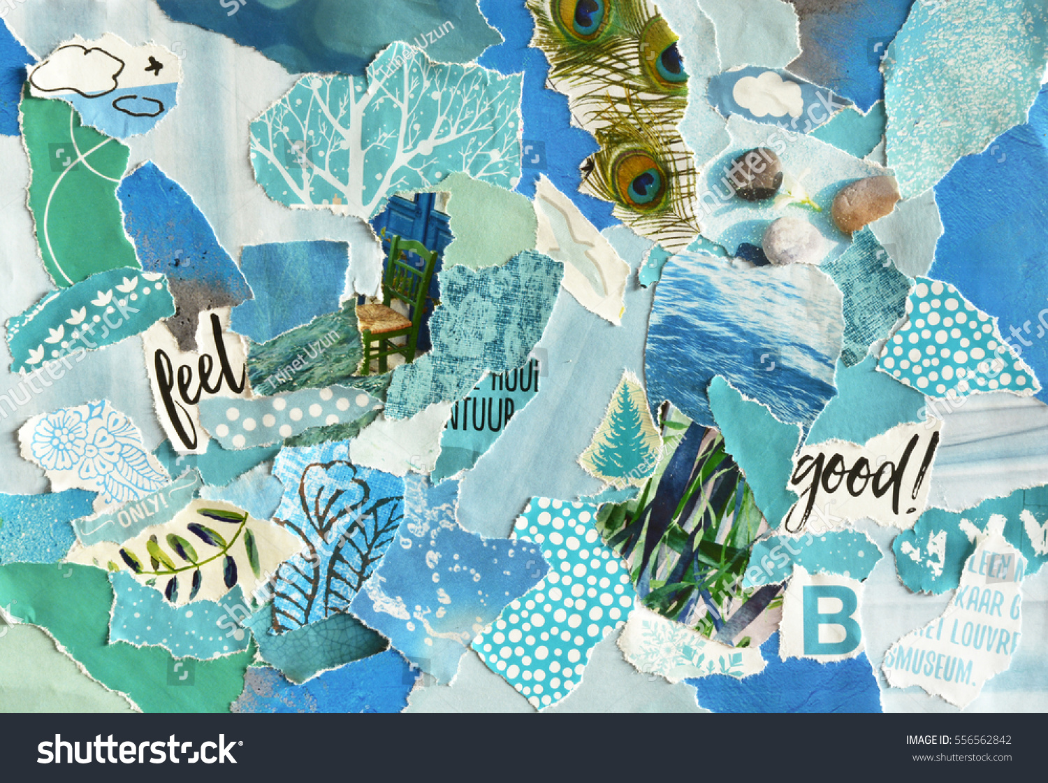 creative atmosphere art mood board collage stock photo edit now