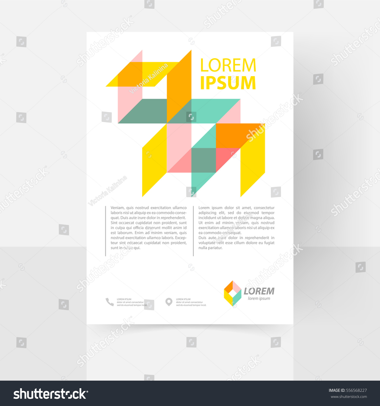 Poster design eps - Vector Text Template For Flyer Poster Report Brochure Abstract Clean Geometric Design