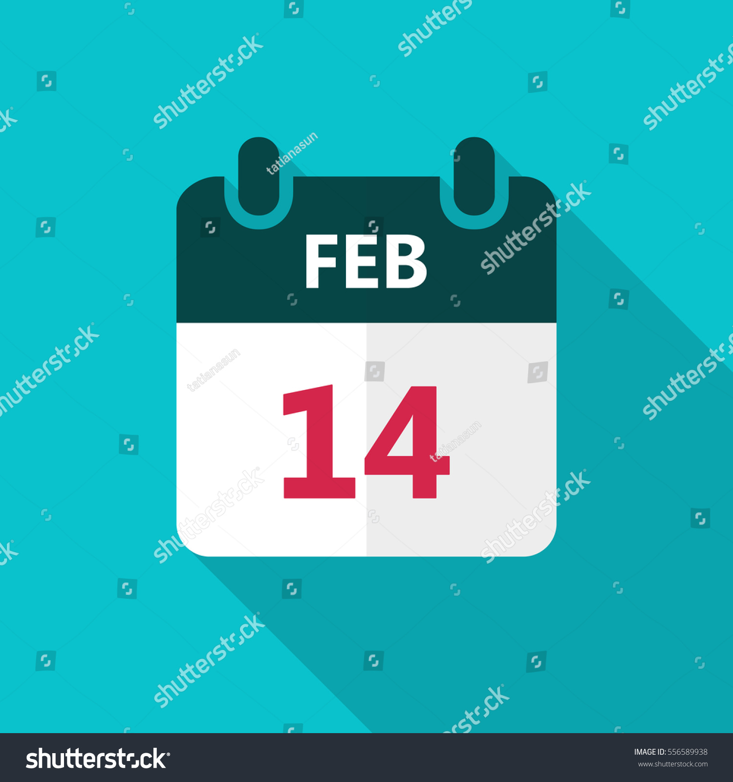 February Calendar Illustration : February calendar icon valentines day stock vector