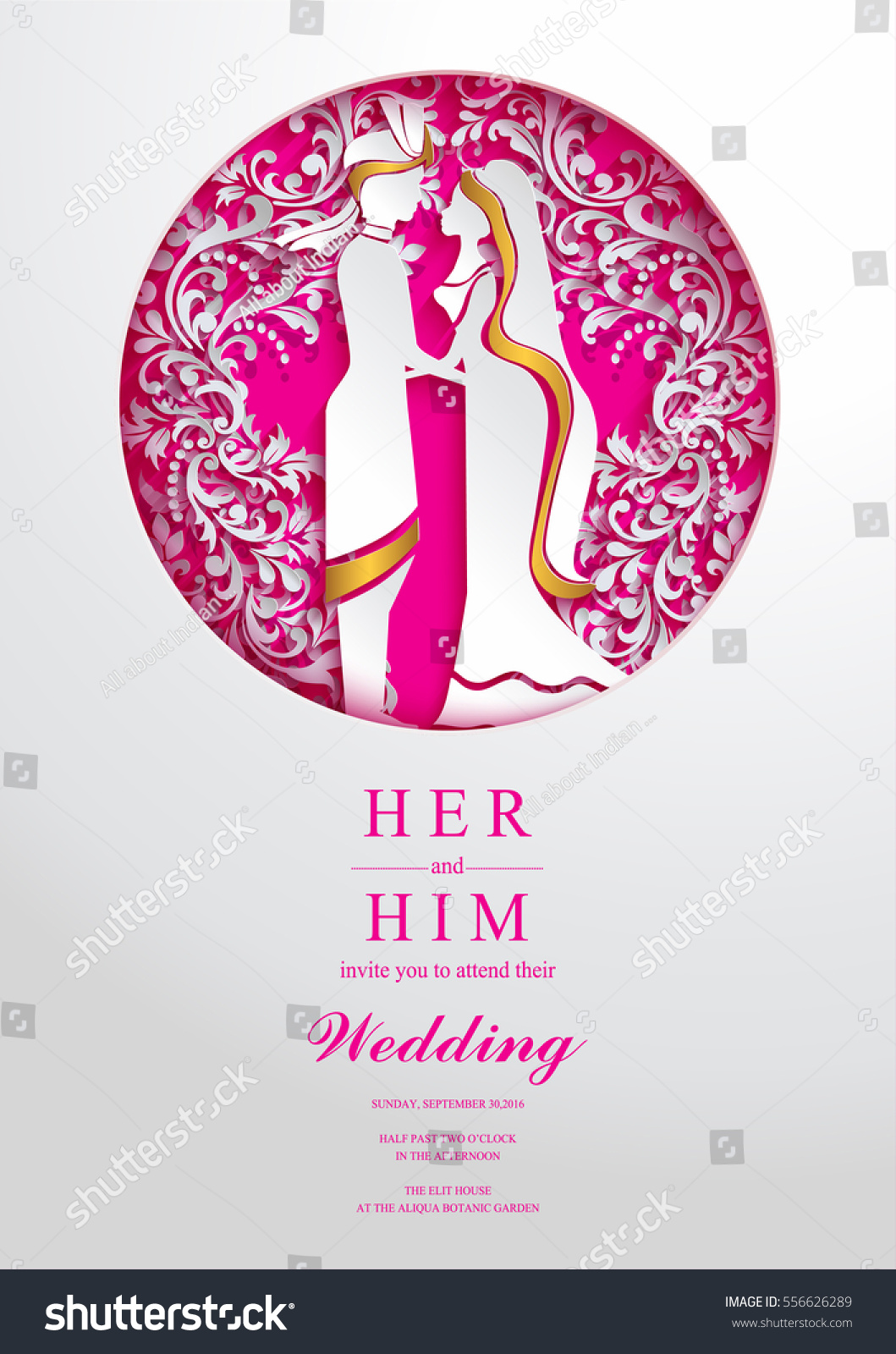 Indian Wedding Invitation Card Templates Paper Stock Vector (Royalty ...