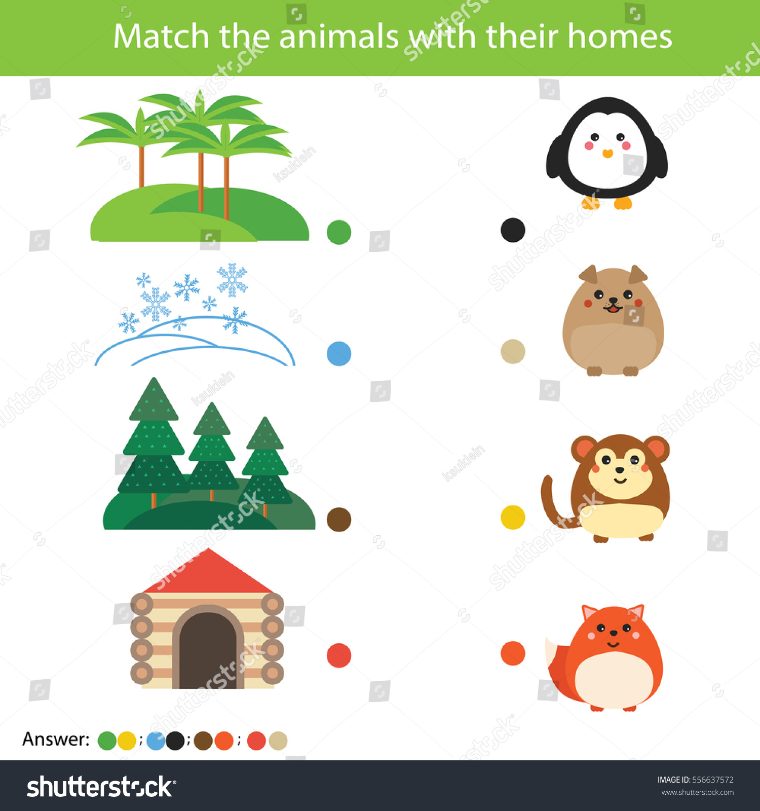 worksheet Animal Homes Worksheets matching children education game match animals stock vector with their homes learning nature theme activity for