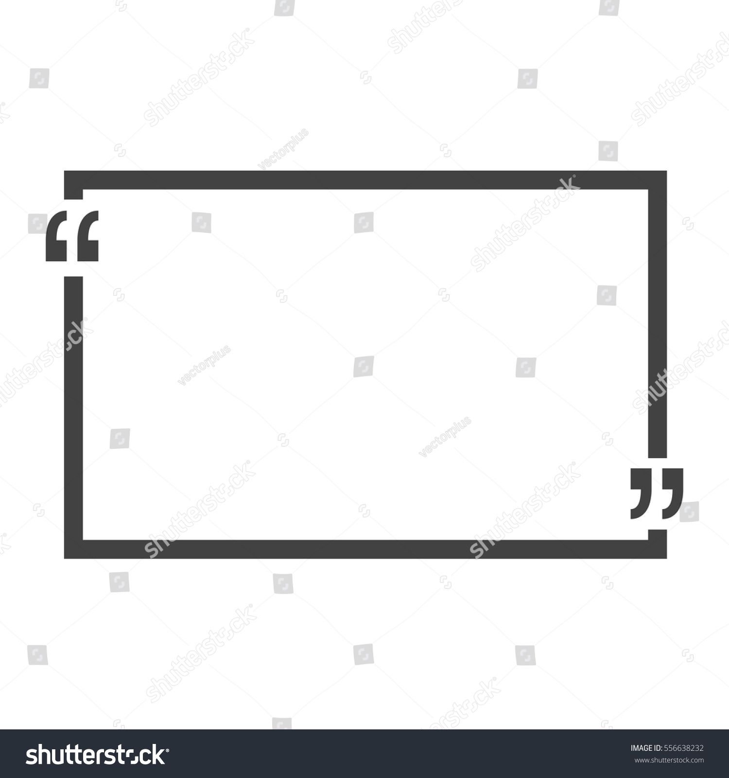quote bubble blank templates empty business stock vector