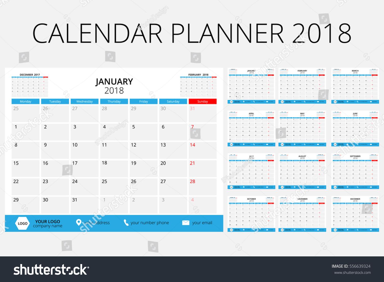Calendar Planner Osx : Calendar planner size inch 스톡 벡터