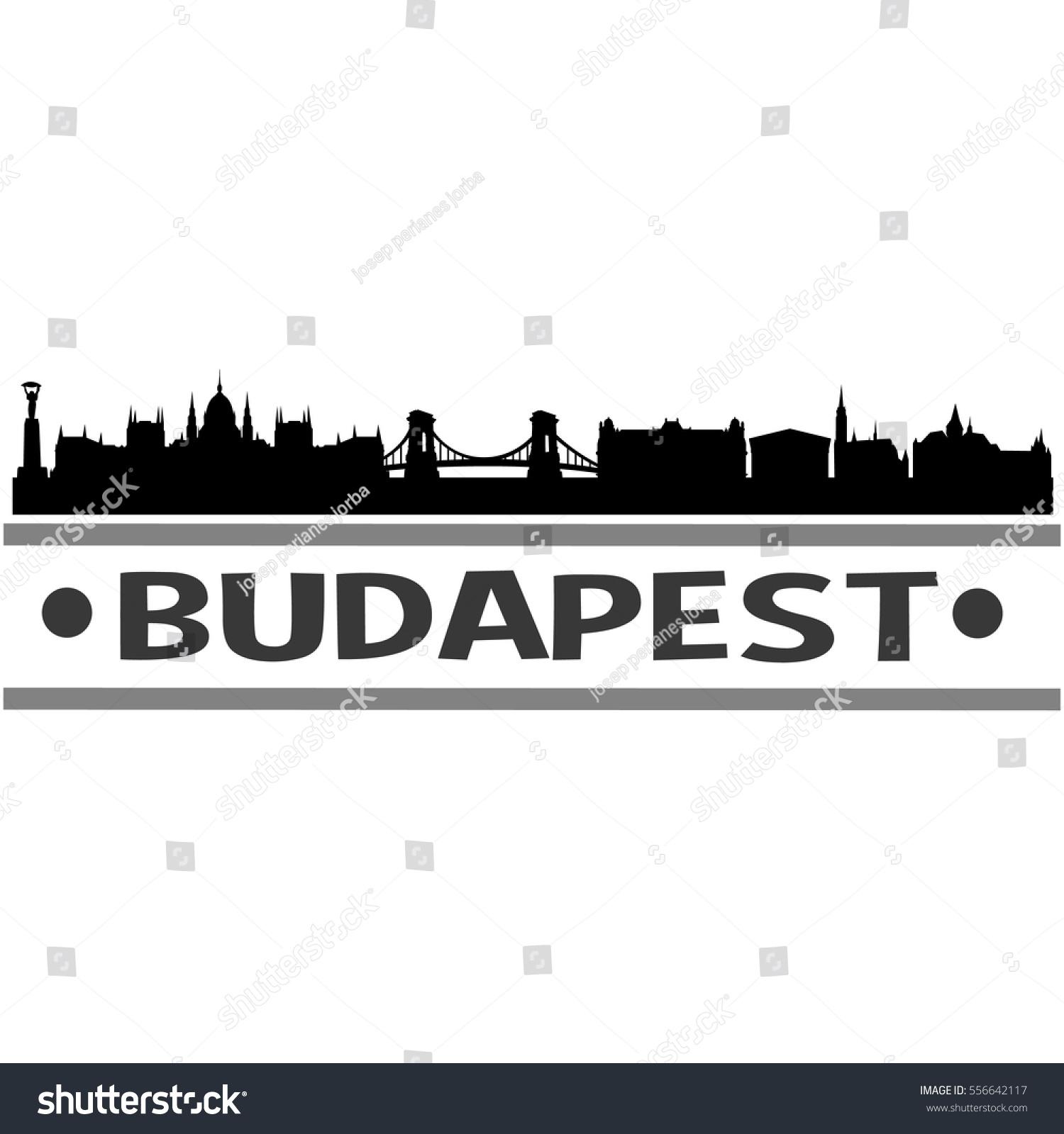 Budapest Skyline Silhouette Stock Vector 556642117