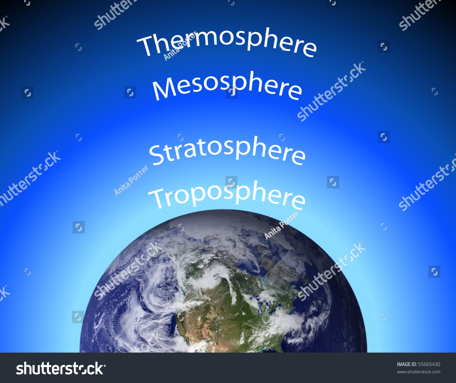 diagram of earth 39 s atmosphere stock photo 55665430 shutterstock : diagram of atmosphere - findchart.co