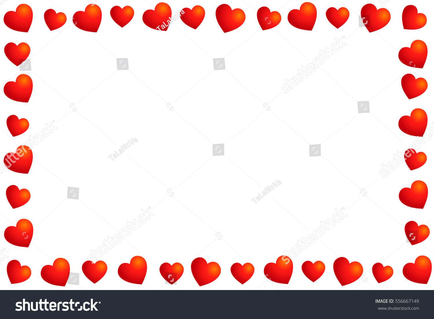frame hearts valentines day stock vector 556667149 shutterstock