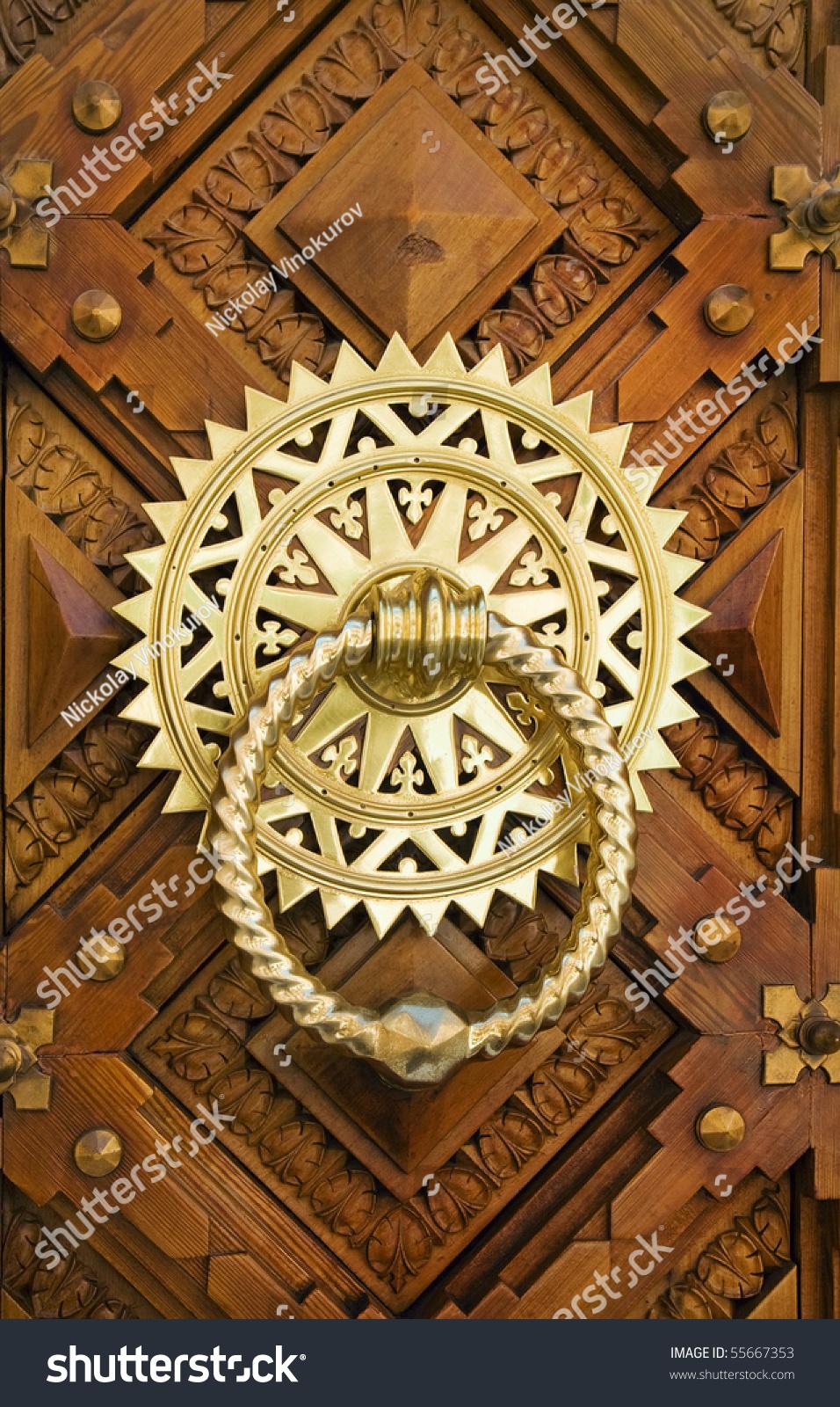 Vintage Image Ancient Door Knocker On Stock Photo 55667353