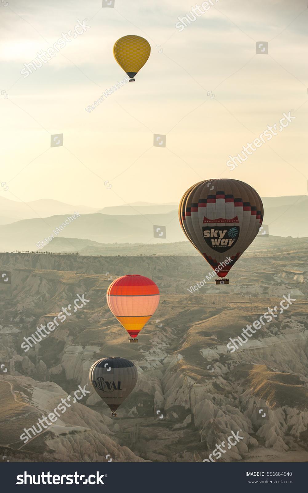 Goreme Turkey March 20 2016 Balloons Stock Photo 556684540 ...