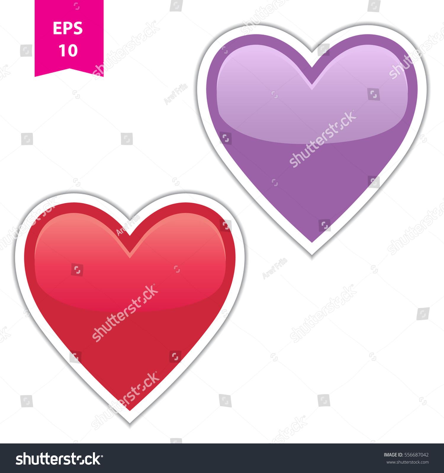 Heart Vector Sticker Symbol Love Affection Stock Vector Royalty