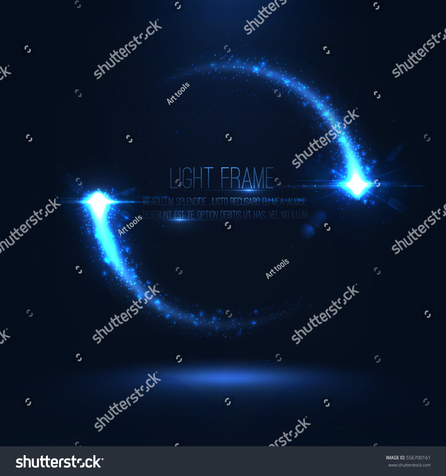 Magic Light Frame Consist Glowing Particles Stock Vector 556700161 ...
