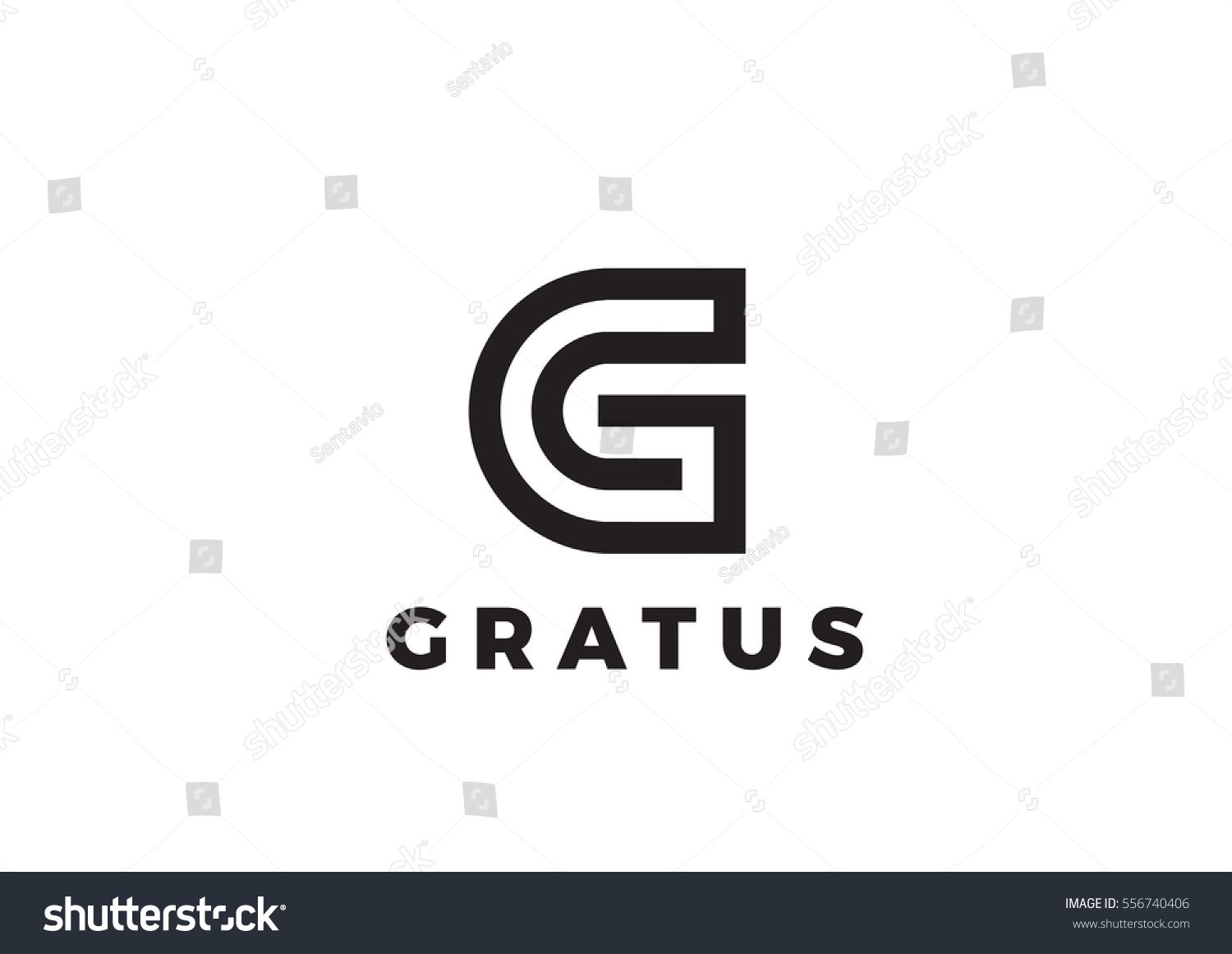 Letter G Logo Luxury Design Vector Stock Vector Royalty Free