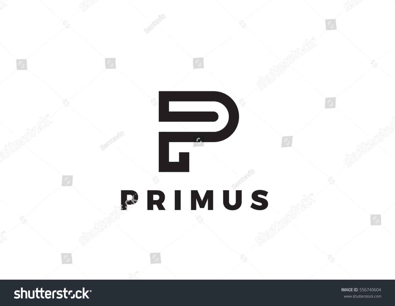 letter p logo luxury design vector のベクター画像素材 ロイヤリティ