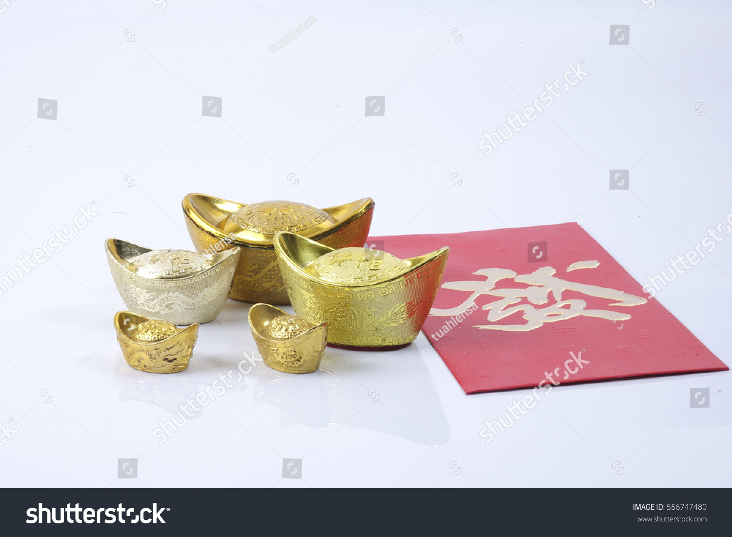 Chinese new year festival decorations ang stock photo for Ang pow packet decoration