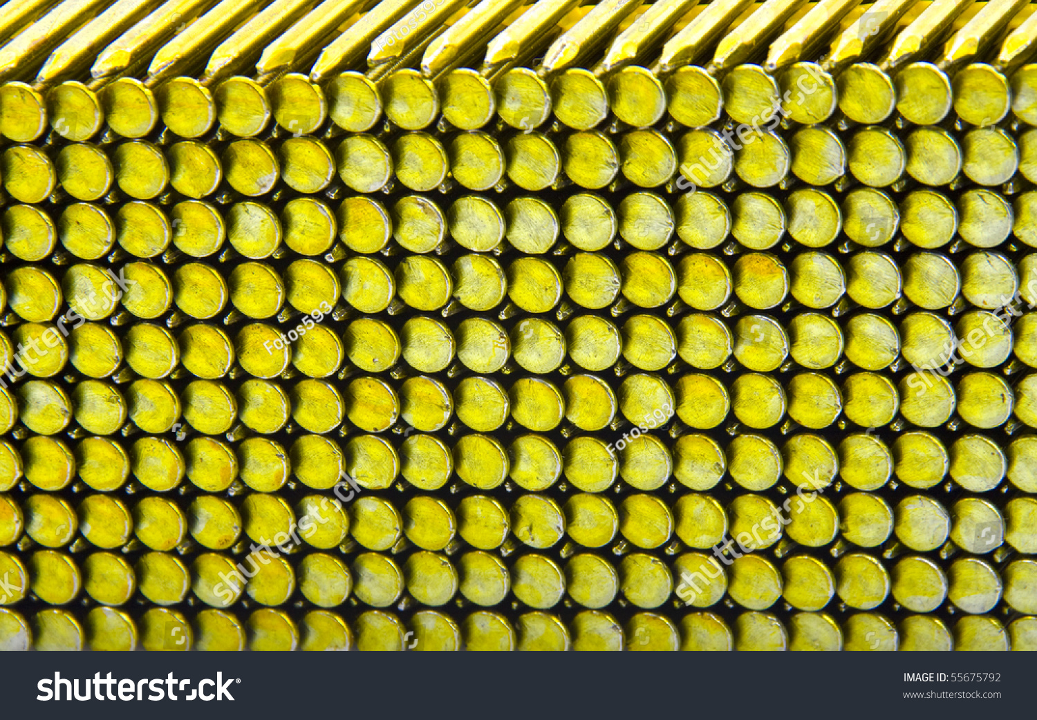 Round Head Plastic Collated Framing Nails Stock Photo (Royalty Free ...