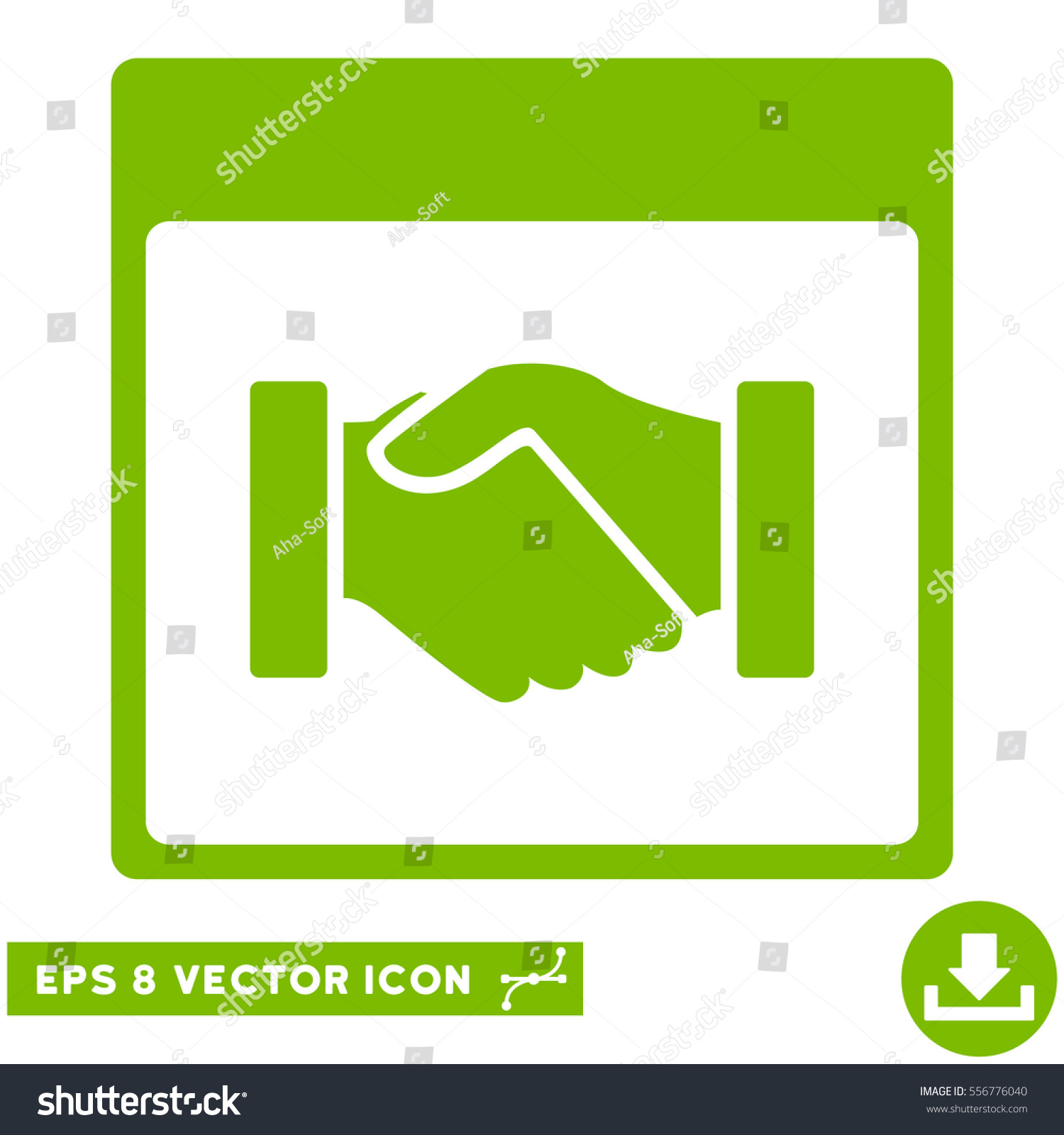 Calendar Pages Vector : Handshake calendar page icon vector eps stock