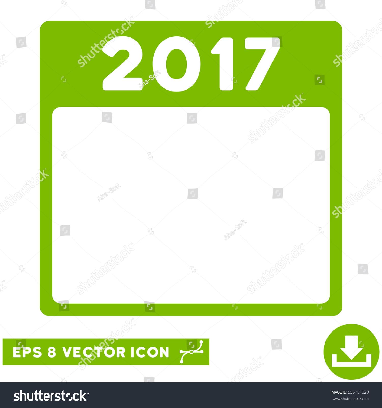 2017 Year Calendar Template Icon Vector Stock Vector
