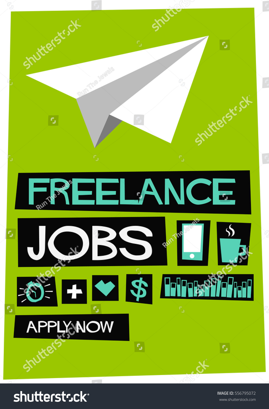 lance jobs apply now flat style stock vector   lance jobs apply now flat style vector illustration recruitment hiring poster design