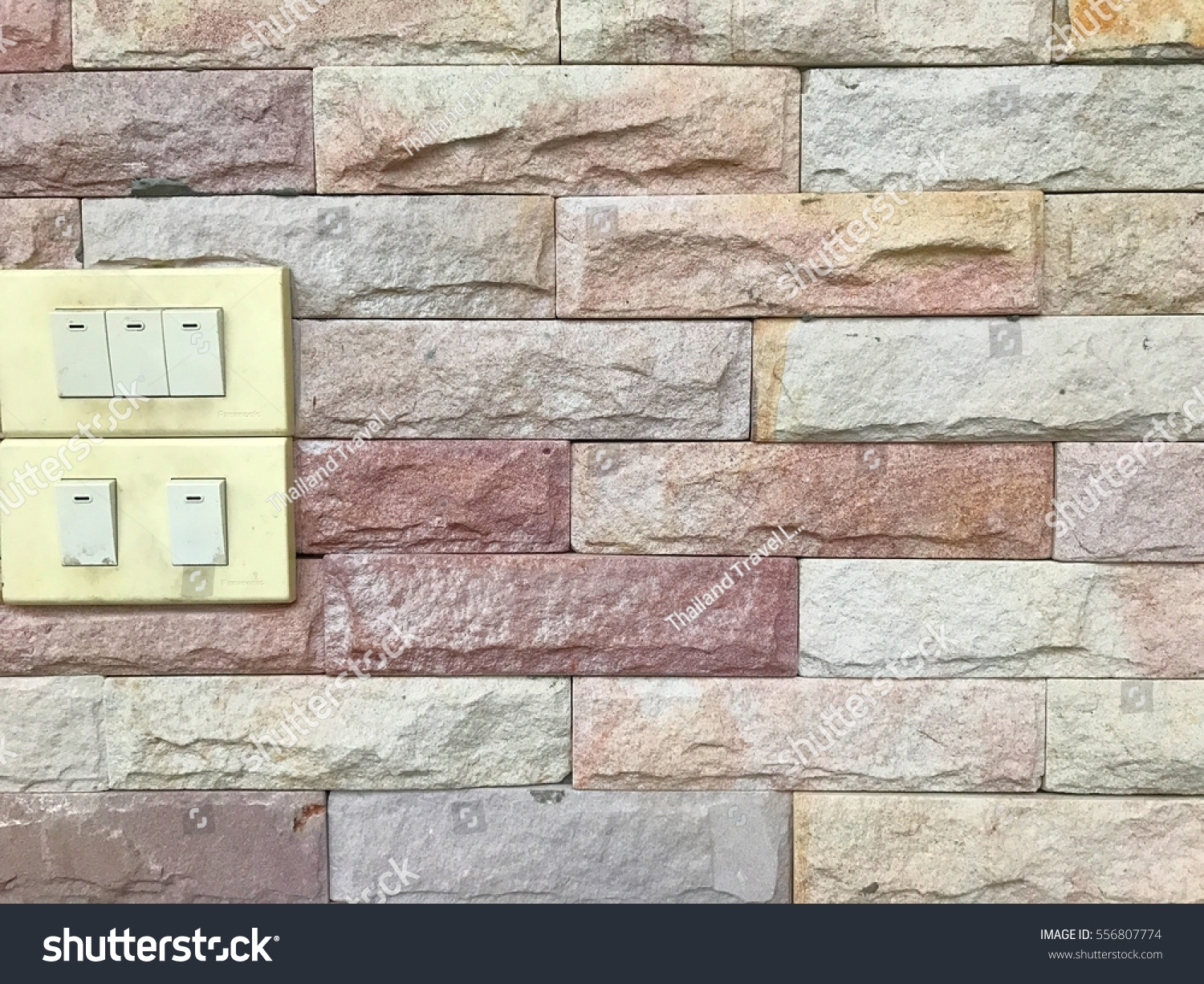 Old Light Switch Put On Wall Stock Photo (Edit Now) 556807774 ...