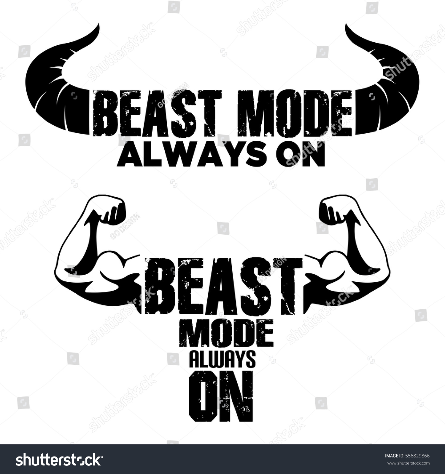 beast mode on vector graphic illustration stock vector