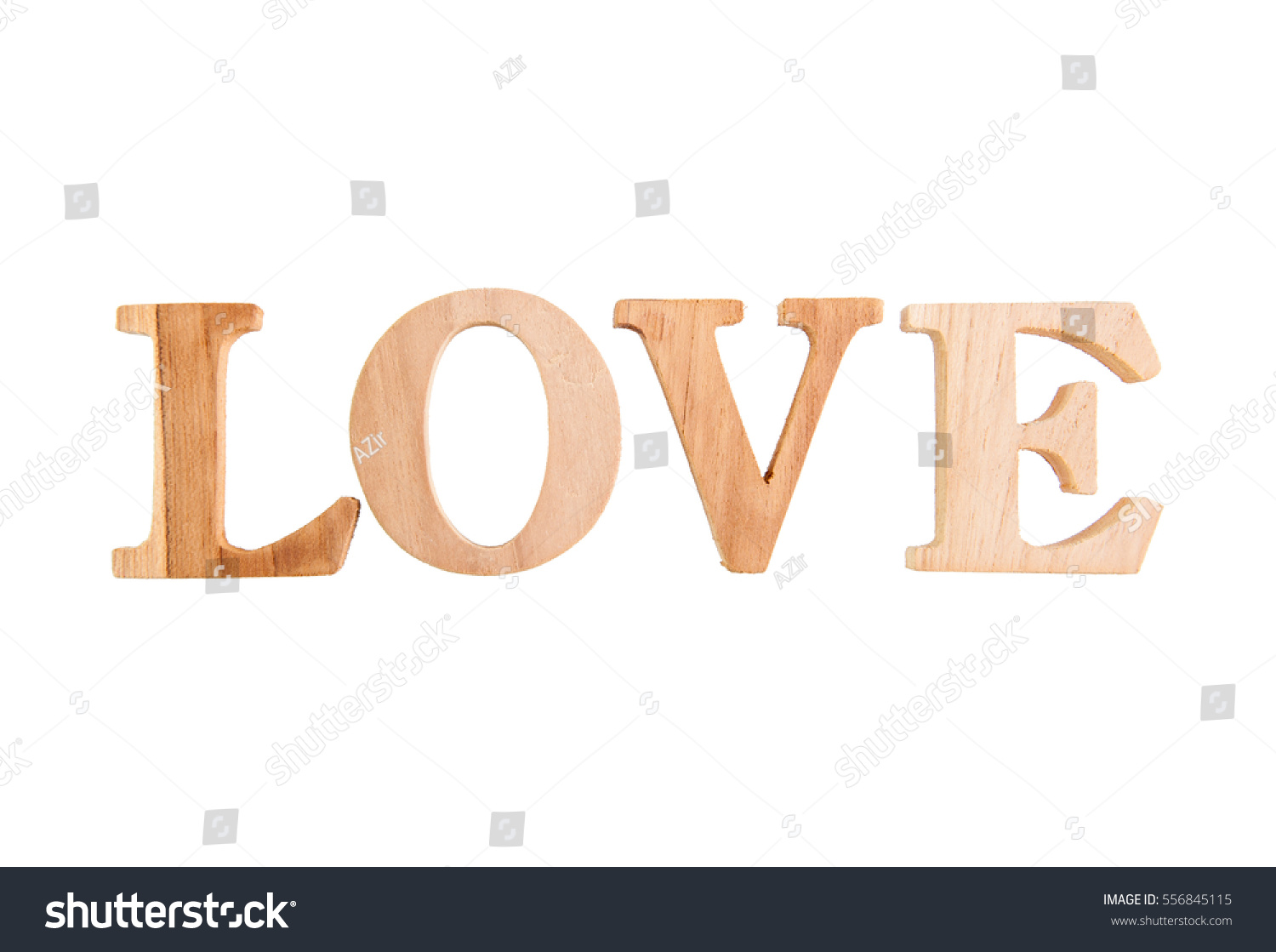Love Wood Letters Love On White Stock Photo Edit Now 556845115