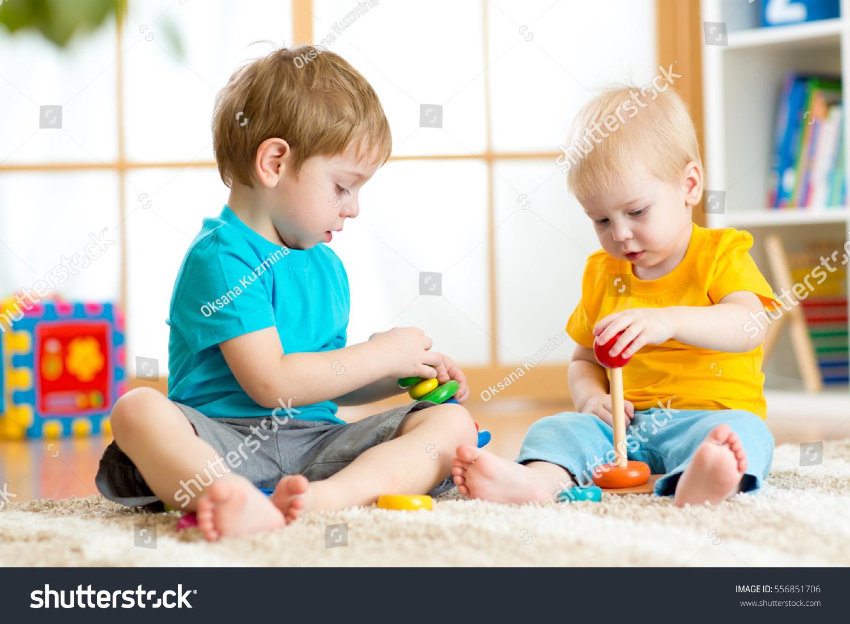 Children Boys Play Educational Toys Preschool Stock Photo Edit Now