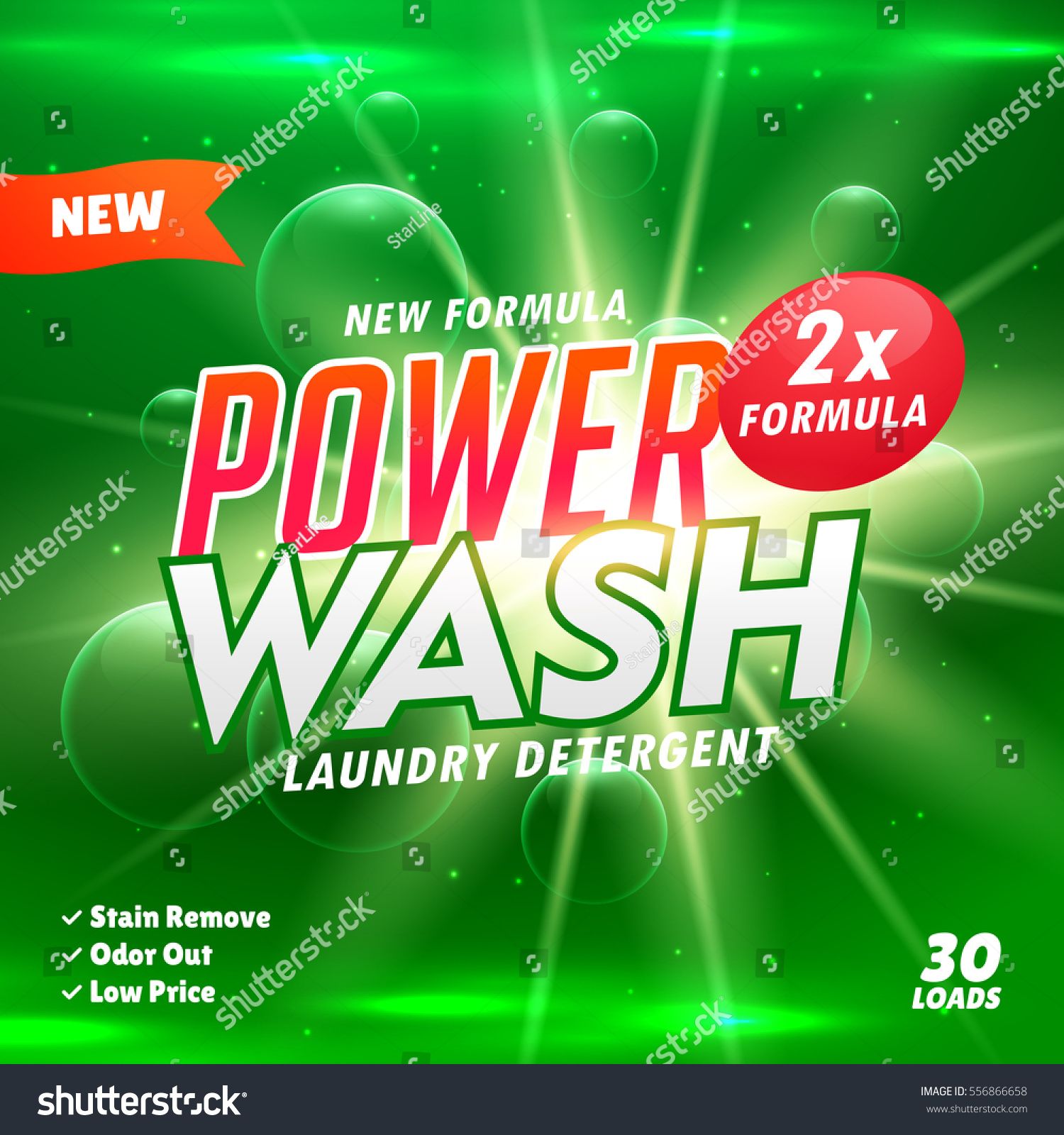 bathroom cleaning laundry detergent product designing stock vector