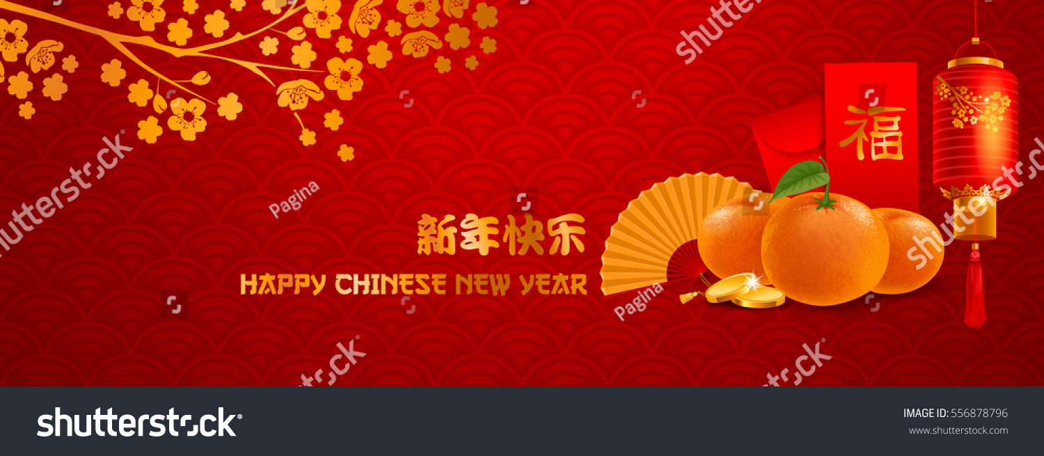 elegant chinese new year banner template character on envelope mean good fortune vector illustration