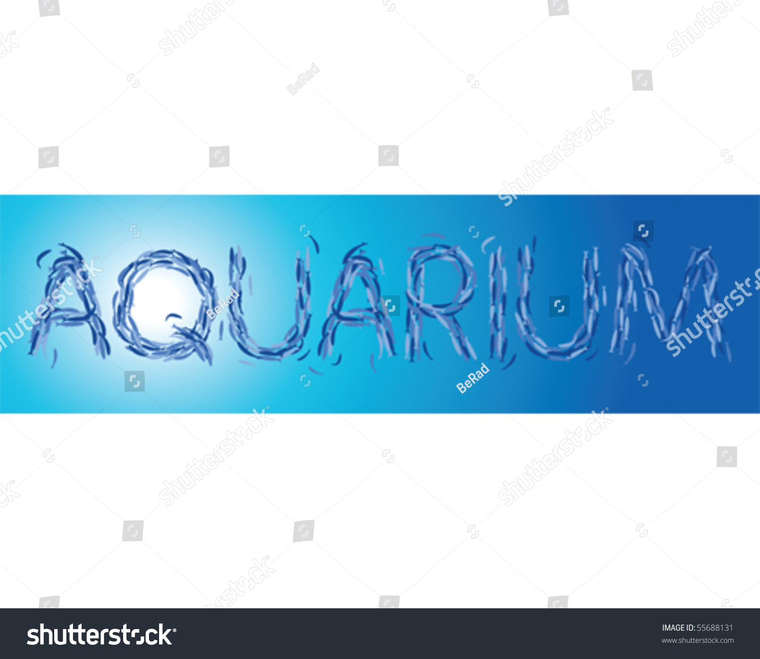 Fishes aquarium word stock vector illustration 55688131 for Is fishes a word