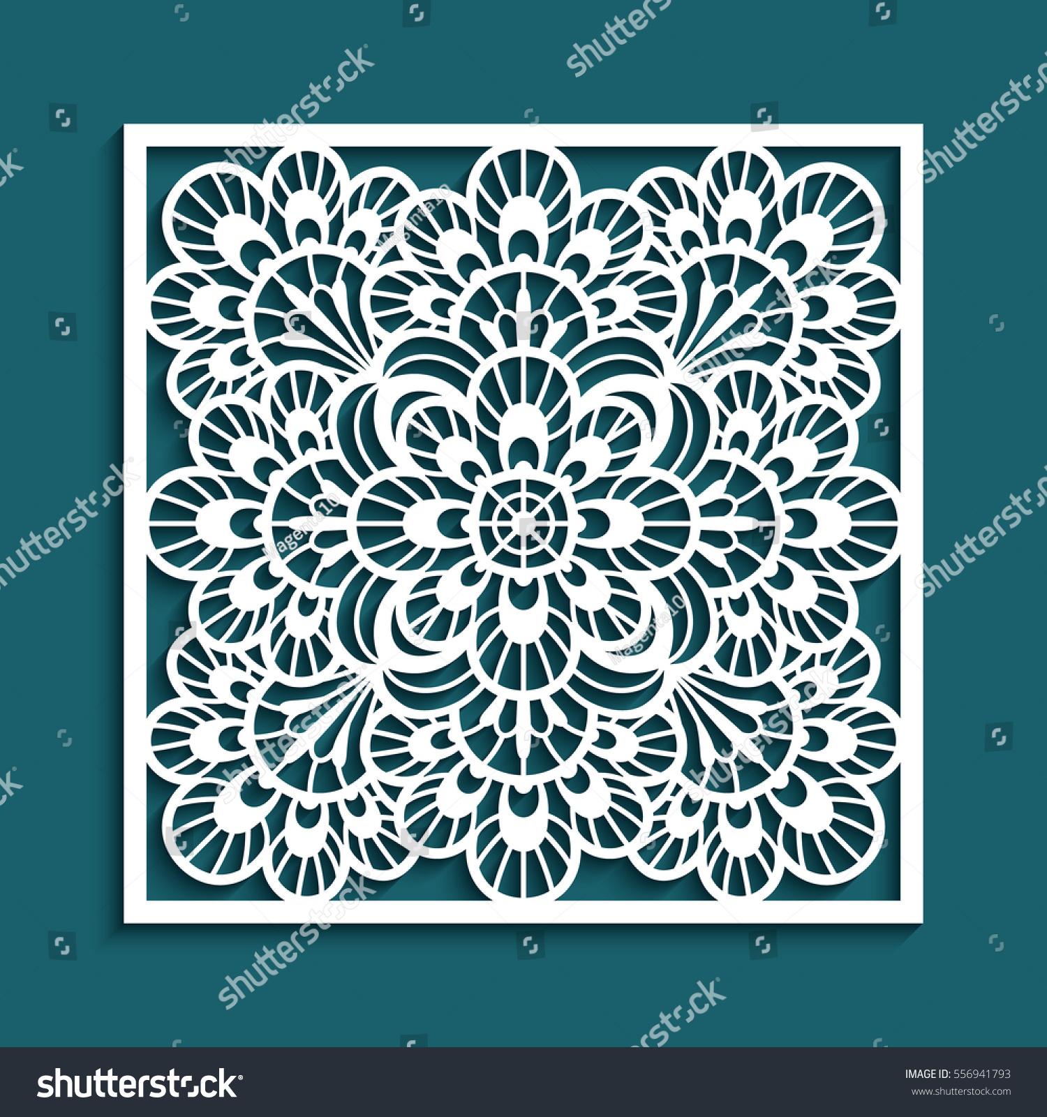 Decorative Panel Lace Pattern Elegant Square Stock Vector ...
